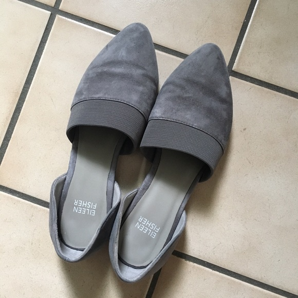 Eileen Fisher Shoes - Eileen Fisher grey suede flats
